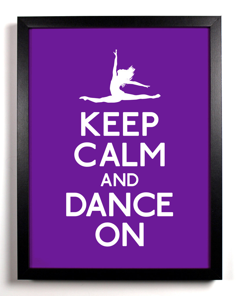Keep Calm And Dance On Wallpaper