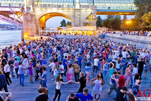 Salsa a Gorkij parkban