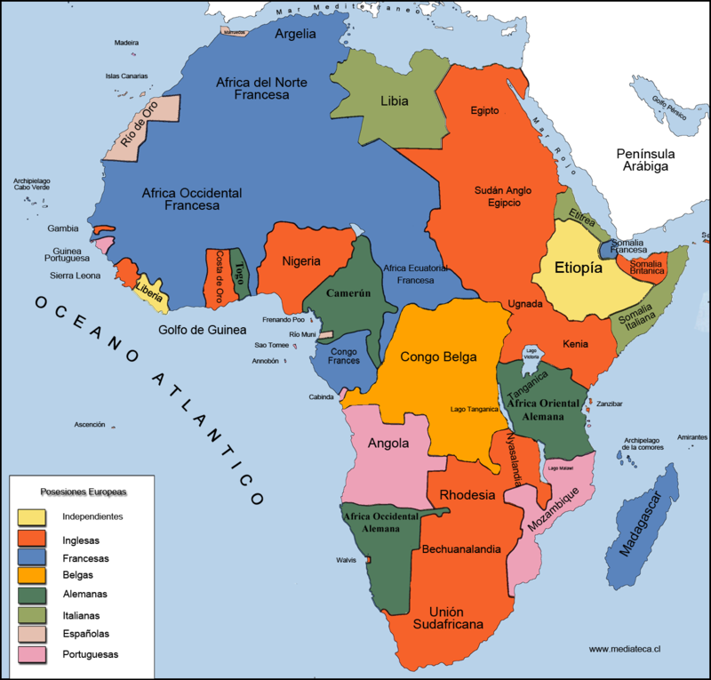 Afrikai gyarmatosítása